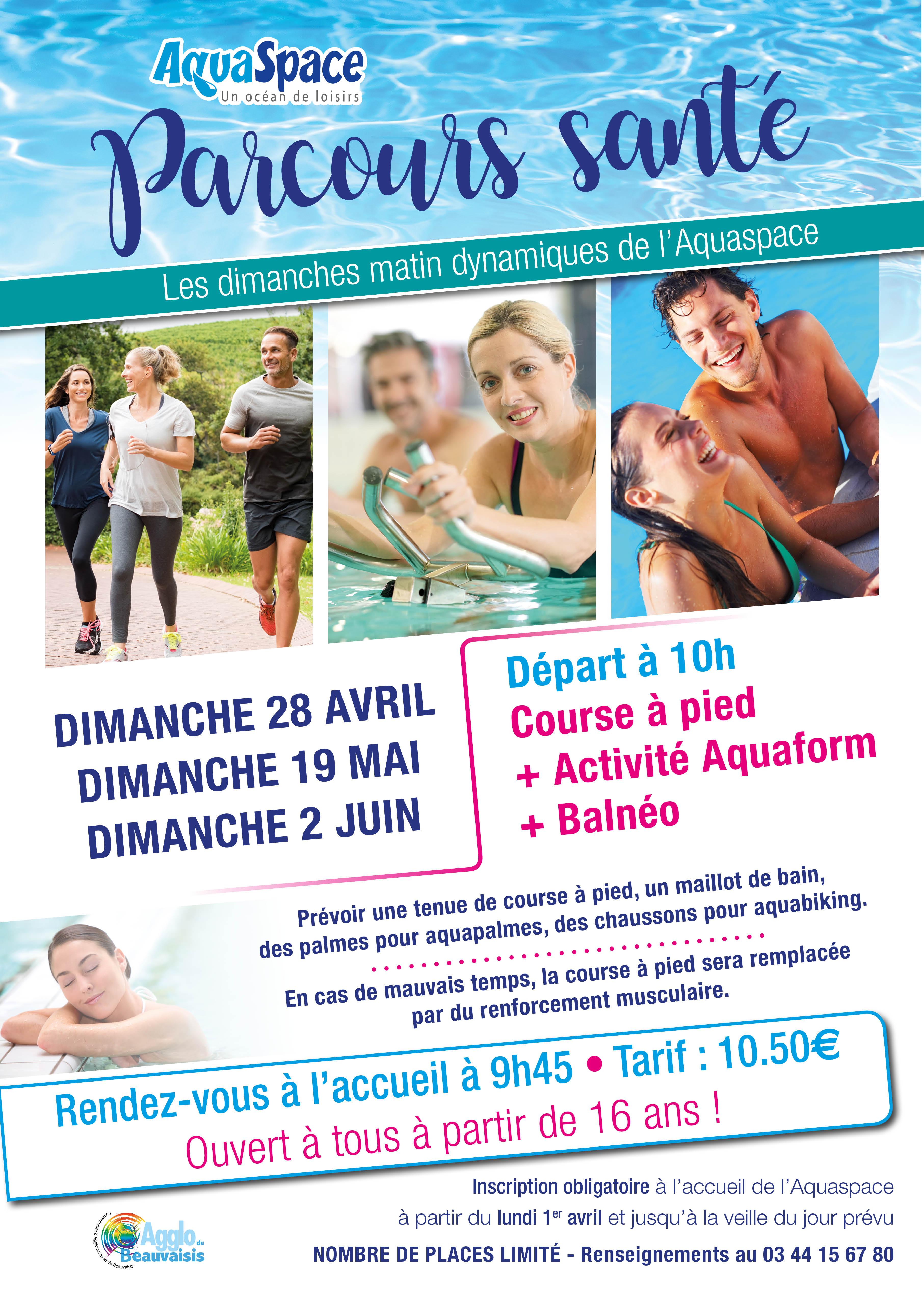 Les parcours santé de l'Aquaspace pour se faire du bien